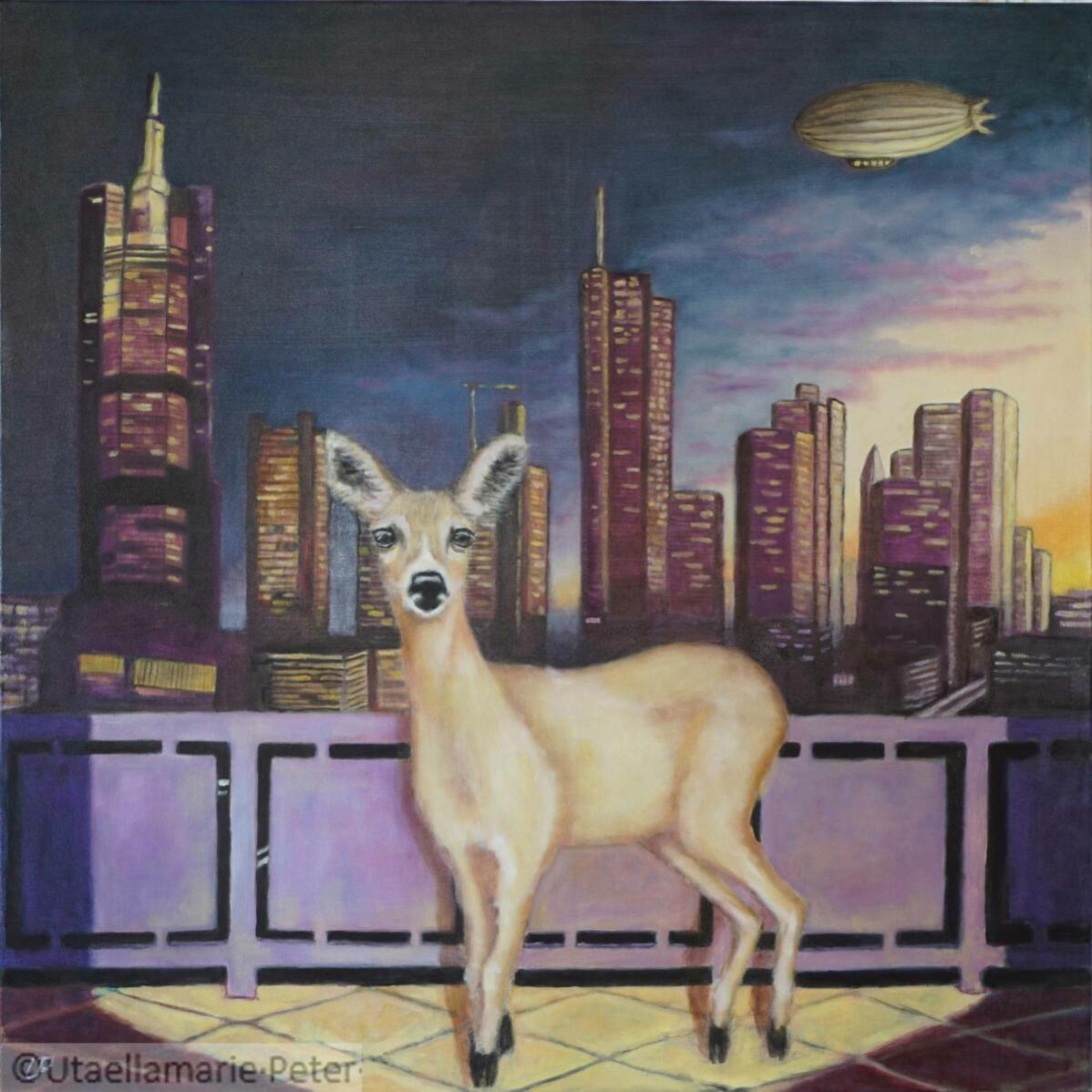 Bambi der Eroberer - 2021-11 - 90-90 cm - Öl-BS