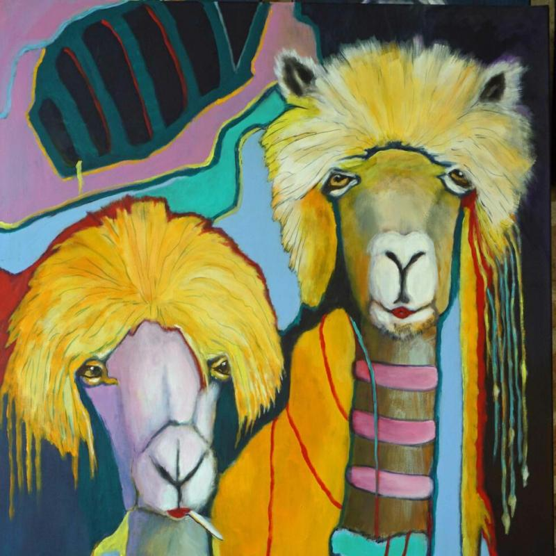 Hippies - 2021-19 - 110-90 cm - acryl
