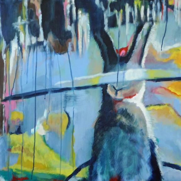 Mein Name ist Hase - 2021-27 - 100-70 cm - Acryl