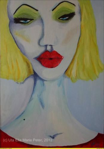 Lippen-1 - Acryl auf Leinwand - 2013 - 80x120 cm